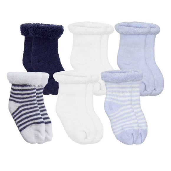 Kushies TerrySocks 6pk - Blue