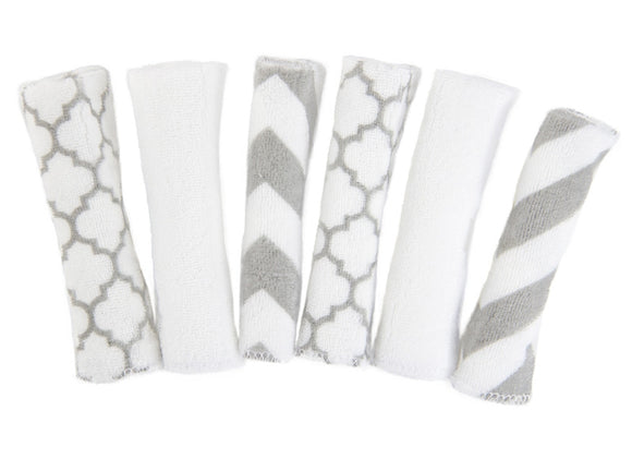 Kushies Pack Washcloths - Neutral Prints