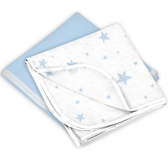 Kushies Receiving Blankets 2 Pack - Blue