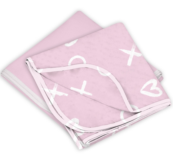 Kushies Receiving Blanket 2 Pack - Pink