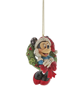 Minnie Mouse Wreath Ornament