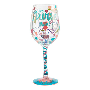 "Lolita ""Nurse This"" Wine Glass"