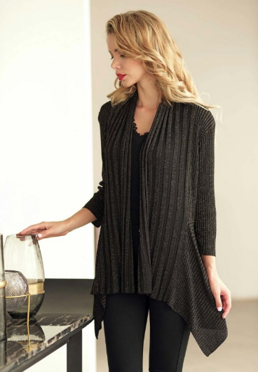 Black Two Way Cardigan - One Size