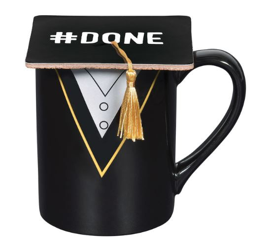 Our Name Is Mud Grad Mug with Coaster Set