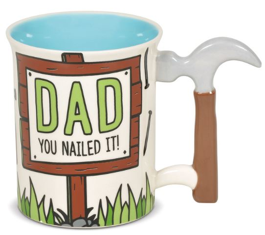 Our Name Is Mud Dad Hammer Sculpted Handle Mug