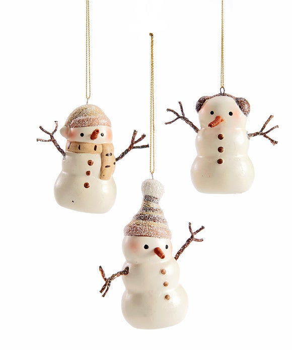 Resin Snowman Design Ornaments