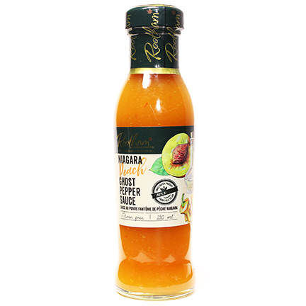 Rootham's Niagara Peach Ghost Pepper Sauce 250 ml