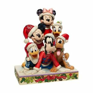 Jim Shore Mickey and Friends Stacked Christmas