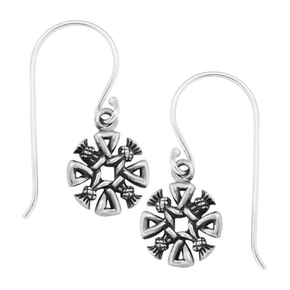 Boudicca Thistle Cross Earrings