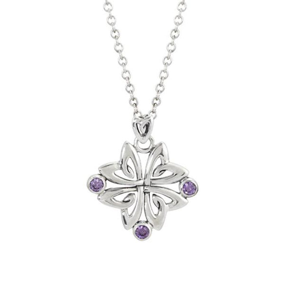 Boudicca Amethyst Flower Pendant Necklace