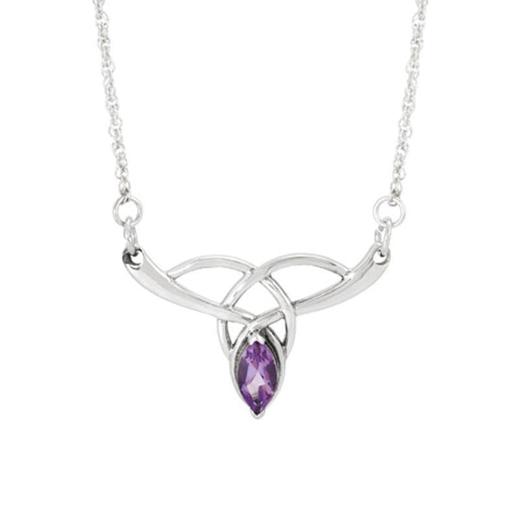 Boudicca Amethyst Knot Sterling Silver Necklace