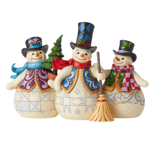 Jim Shore Three Snowmen Together