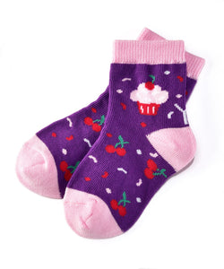 Cherry On Top Socks (Girls / 1-2 Years)