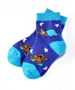Yo Sox Goodnight Bear Socks (Boys / 1-2 Years)