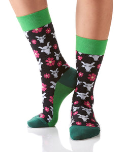 Moo Meadows Design Women's Crew Sock