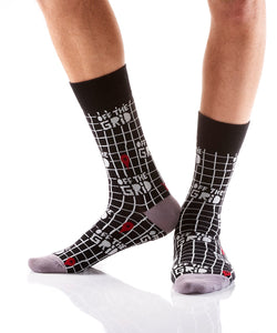 Yo Sox Off The Grid Design Men's Crew Sock