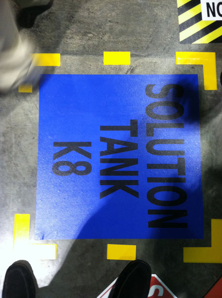 Customized floor sign