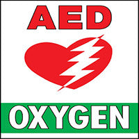 Mighty Line Oxygen AED Floor Sign