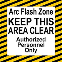 Mighty Line Arc Flash Warning Floor Sign