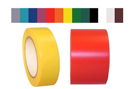 Solid SPVC Vinyl Colored Tape - 5.2 mil