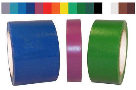 Solid SPVC Vinyl Colored Tape - 6 mil - Sold Per Roll - *LIMITED COLORS*
