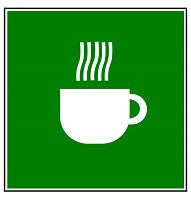 Mighty Line Coffee Station Here Floor Sign