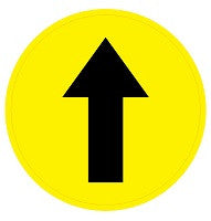 Mighty Line Directional Arrow Floor Sign