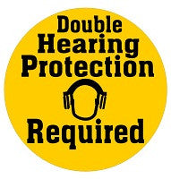 Mighty Line Double Hearing Protection Required Floor Sign
