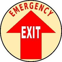 Mighty Line Emergency EXIT Floor Sign
