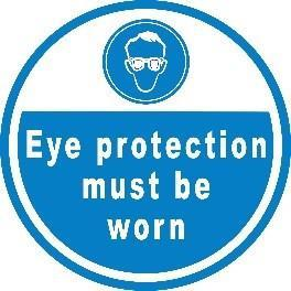 Mighty Line Eye Protection Must Be Worn Floor Sign