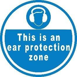 Mighty Line Ear Protection Zone Floor Sign