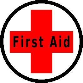 "Mighty Line First Aid 12"" Floor Sign"