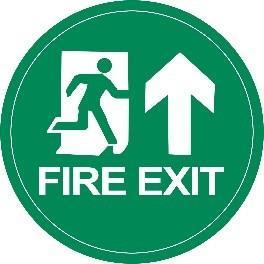 Mighty Line Fire Exit Green Floor Sign