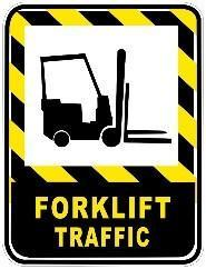 Mighty Line Forklift Traffic Floor Sign