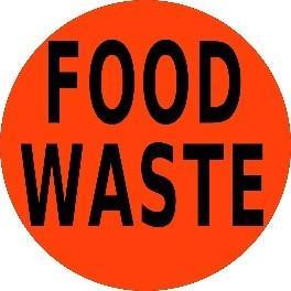 Mighty Line FOOD WASTE Floor Sign