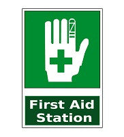 Mighty Line First Aid Station Floor Sign (Green#2)