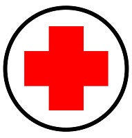 Mighty Line First Aid Station Here Floor Sign