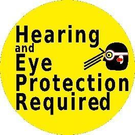 Mighty Line Hearing and Eye Protection Required Floor Sign