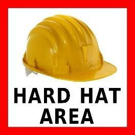 Mighty Line Hard Hat Area Floor Sign