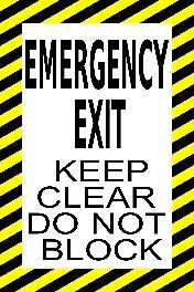 Mighty Line Emergency Exit Keep Clear Do Not Block Floor Sign