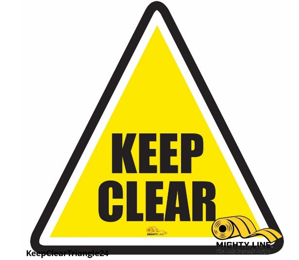 Mighty Line Keep Clear Triangle Floor Sign
