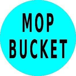 Mighty Line MOP BUCKET Floor Sign