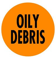 Mighty Line OILY DEBRIS Floor Sign
