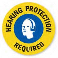 Mighty Line Hearing Protection Required Floor Sign (Multi-Color)