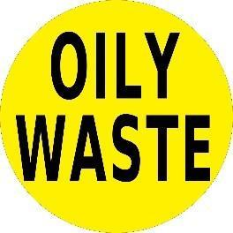 Mighty Line OILY WASTE Floor Sign