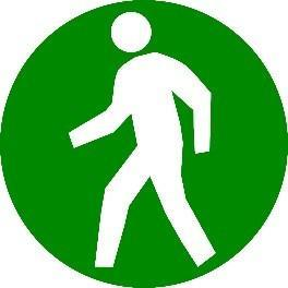 Mighty Line Circle Pedestrian Floor Sign