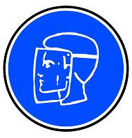Mighty Line Protection Mask Required Floor Sign