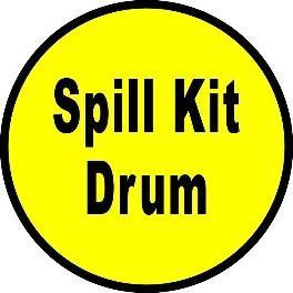 Mighty Line Spill Kit Drum Floor Sign