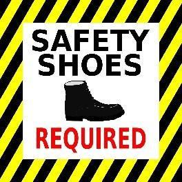 Mighty Line Safety Shoes Required Floor Sign
