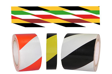 Striped Safety Warning Tape - 6.0 mil